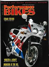 Performance Bikes Dec 88 Yamaha FZR600 FZR1000 RD350F Harris GPz750 Turbo