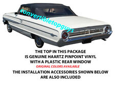 FORD GALAXIE & MERCURY MONTEREY, PARK LANE CONVERTIBLE TOP DOITYOURSELF Pkg 1964
