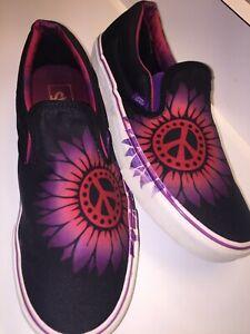 VANS Shoes Slip On PEACE Size 8.5 Men's / Women's Size 10 GEM GEM !