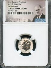 2018 S Silver Roosevelt 10C REVERSE PROOF NGC PF70 R.P. POR FIRST RELEASES
