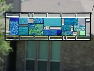 """SPIRIT OF THE SEA-36""""x12""""  Beveled Stained Glass Windows"""