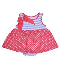 Flap Happy Baby Girls Jaya Skirted Romper, red dots, 12m