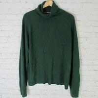Karen Scott Sweater Womens XXL Green Long Sleeve Turtleneck