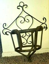 Wrought Iron HEART SHAPED Symbol Large Rustic Plant Hanger  Shabby Chic