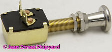 Marine Boat 2 Position SPST Push Pull Panel Switch Off-On Spade Connectors 11931