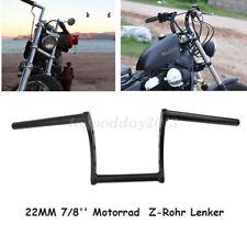 """Black Drag 7/8"""" 22mm Z Bars Moto Pullback Handlebars For Chopper Bobber Yamaha"""