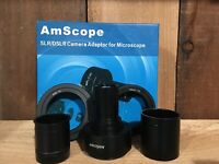 AmScope Nikon SLR/DSLR Camera Microscope Two Adapter 2X Magnification.