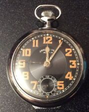 Vintage PreWar Ingersoll Alarm Pocket Watch Swiss Made (Brevet124160,112427)