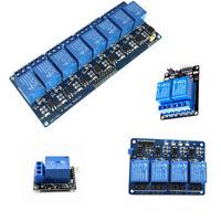 Module carte relais 1/2/4/8 canaux pour Aduino Raspberry Pi ARM AVR DSP PIC