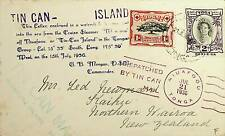 TOGA 1936 TIN CAN MAIL COVER TO NEW ZEALAND-N45465