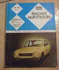 revue technique l'expert automobile N°111 PEUGEOT 504 L + 1 FICHE TECHNIQUE