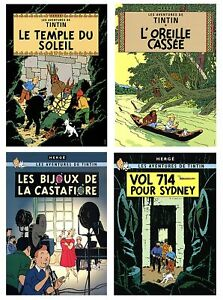 Bundle- 4 Assorted Herge Tintin Posters
