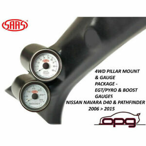 SAAS Pillar Pod / Gauge Package for Nissan Navara D40 2006>2015 Boost & EGT
