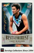 2014 AFL Champions Holofoil Best & Fairest Card BF13 Chad Wingard (P. Adelaide)