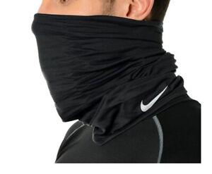 Nike Running Wrap Neck Warmer Black Soccer OSFM Face Mask Beanie AC3602-001