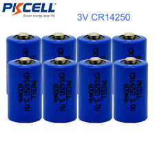 8 Pack CR14250 Lithium Batteries 1/2 AA 3V 600mAh Battery for Water Meter PKCELL