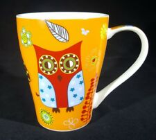 Burton & Burton Whimsical Rare Large Owl Orange Mug