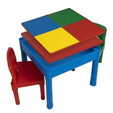 Play Platoon Kids Activity Table Set - 5 in 1 Water Table, Building Block Table,
