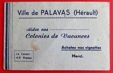 ERINNOPHILIE - CARNET PALAVAS AIDEZ NOS COLONIES DE VACANCES