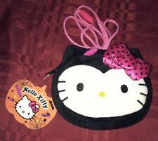 Sanrio Hello Kitty Halloween Black Devil Purse Bag Plush New