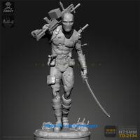 75mm Deadpool Sci-Fi Warrior Figure Resin Model Kits Unpainted YUFAN Model