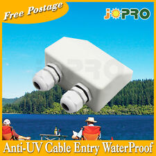 White Double Cable Heavy Duty Entry Waterproof mount Caravan