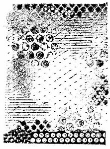 Unmounted Rubber Stamp Medium Grunge Background - 8014
