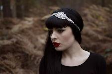 1920s Silver Diamante Dress Headband Flapper Great Gatsby Vintage Bridal 1037