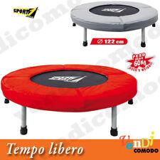 Tappeto Elastico Super Olympic SPORT ONE 122 cm Trampolino Salto Rimbalzo Jump