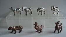 Ferrero Metallfiguren Haustiere und wildtiere Chrome Kupfer