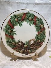Lenox Collector Annual Colonial Christmas Wreath Plate Pennsylvania 1987-10 3/4�