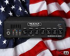 MESA SUBWAY D800 Bass Guitar Amplifier Compact 800W AMP Head 5 Year Warranty NEW