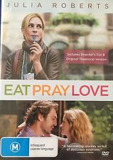 Eat Pray Love Directors Cut & Theatrical Version Julia Roberts Region 4  DVD VGC