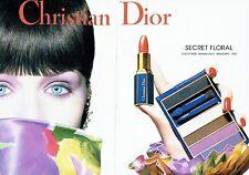 Publicité Advertising  0817 1993  Dior ( 2pag) maquillage rouge lèvres secret fl