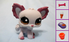 Littlest Pet Shop Dog Chihuahua Lavender Gray 1138 Free Accessory Authentic Lps