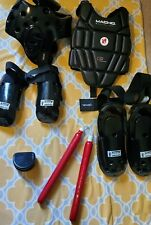 Martial Arts Macho  Sparring Gear Set Karate/Tae Kwon Do Black SET Kids