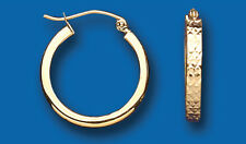 Boucles D'oreilles Créoles Or Jaune 20mm Taille Diamant