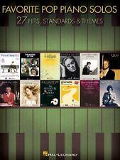 Favorite Pop Piano Solos Sheet Music Piano Solo SongBook NEW 000312523