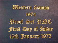 1974 HUTT COMMEMORATIVE WESTERN SAMOA UNCIRCULATED PROOF PNC SERIES 126 6 COIN