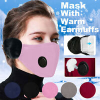 2-in-1 Face Bandana Breathing & Warm Mask Adult Cold Winter Outdoor Ear Earmuffs