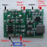 USB lithium lipo 18650 battery charger 3.7V 4.2V to 5V 9V 12V 24Vstep up modu Sa