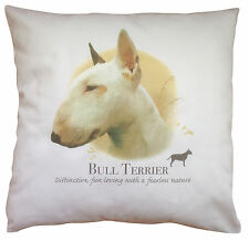 Bull Terrier Dog | 100% Cotton Cushion Cover with Zip | Howard Robinson | Gift