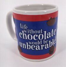 Fannie May Chocolate Lovers Coffee Cup Mug Life Without Chocolate