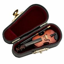 "Miniature VIOLIN Musical Instrument Replica, 3"" Long, Superb Detail"