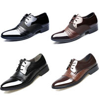 2018 Men Business Dress Formal Oxfords Leather Shoes Flat Lace Up Casual Loafers