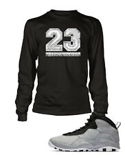 8b14acb0c7b86a 23 Tee Shirt to Match Air Jordan 10 Retro Light Smoke Graphic T Big Tall  Small