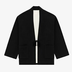 ALD Aime Leon Dore - Black Uniform Thermal Cardigan - XL - NEW