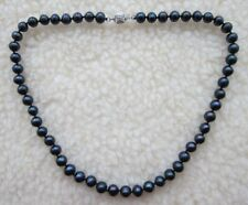 Black Natural Tahitian Style Pearl Necklace - NEW.