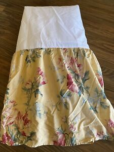 RALPH LAUREN HOME PARSONAGE YELLOW FLORAL SPLIT Bed Skirt DUST RUFFLE KING