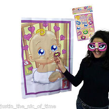 Pin The Dummy on The Baby Shower Party Game up to 12 Players Boy Girl Unisex 20